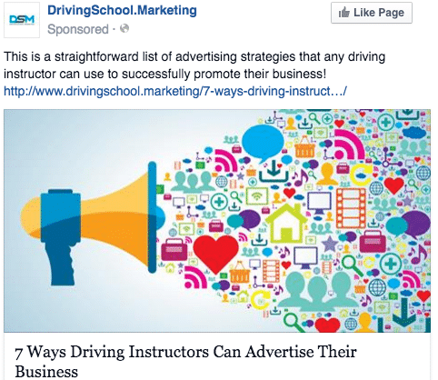 Facebook Ads for Driving Schools